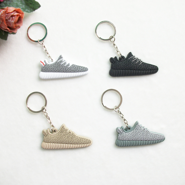 Mini Silicone Sneaker Yeezy Boost 350 Keychain Key Chain Shoes Car Key  Holder Woman Men Bag