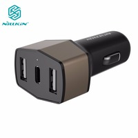 NILLKIN Celerity Car Charger USB Type C 3 Ports Quick Charge 3 0 Car Charger 5V