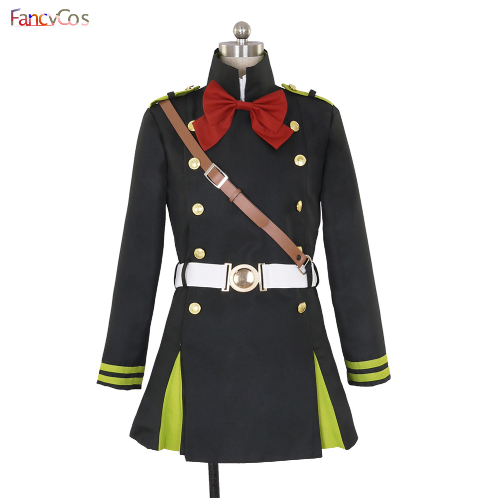 Halloween Women's Seraph of the end Mitsuba Sangu Dress Cosplay Costumes Adult Costume Movie High Quality Deluxe