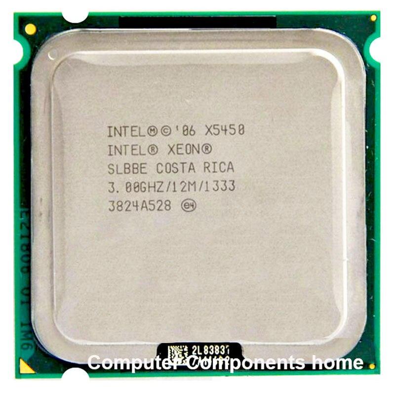 INTEL Xeon X5450 procesador INTEL X5450 CPU de 771 a 775 (3,0 Ghz/12 MB/Quad Core LGA 775 trabajo en 775 Placa de garantía 1 año