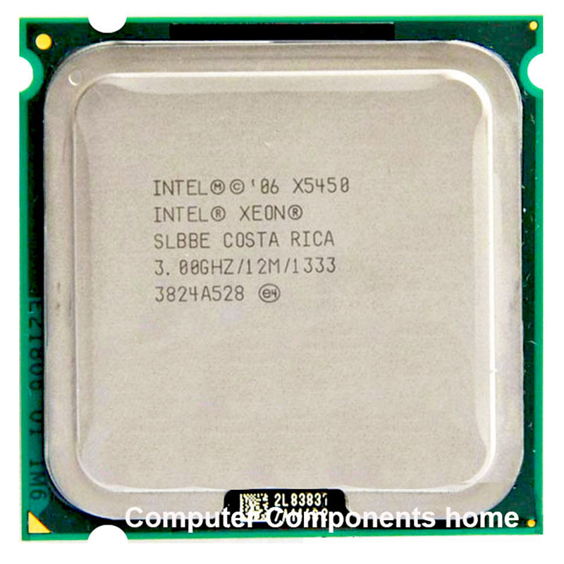 Processeur INTEL Xeon X5450 INTEL X5450 CPU 771 à 775 (3.0 GHz/12 mo/Quad Core LGA 775 travail sur 775 garantie carte mère 1 an