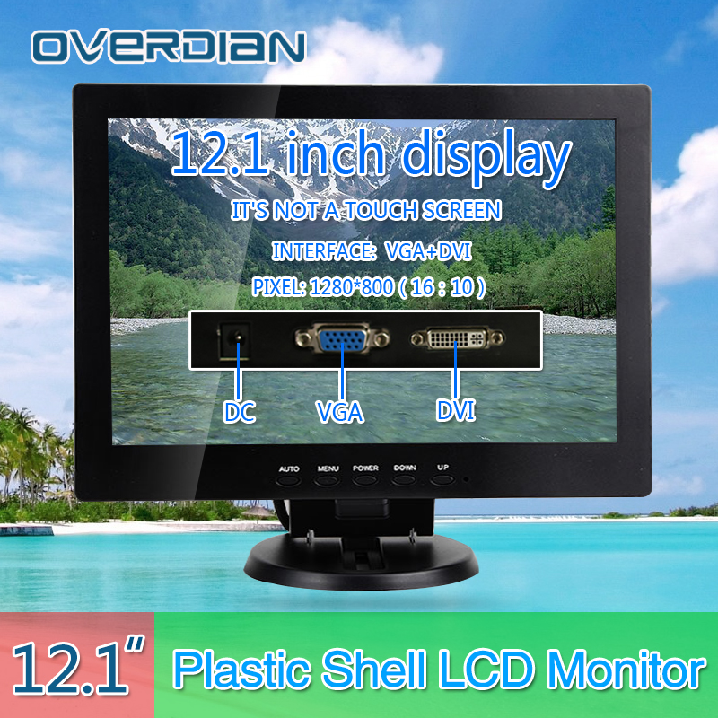 12inch/12.1 VGA/DVI Connector Monitor 1280*800 Song Machine Cash Register Square Screen Lcd Monitor/Display Non-touch Screen