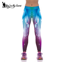 New Gradient Printed Woman Yoga Pants Fashion Dazzle Lights Workout Sport Fitness Leggings Pantalones Mujer KYK1074