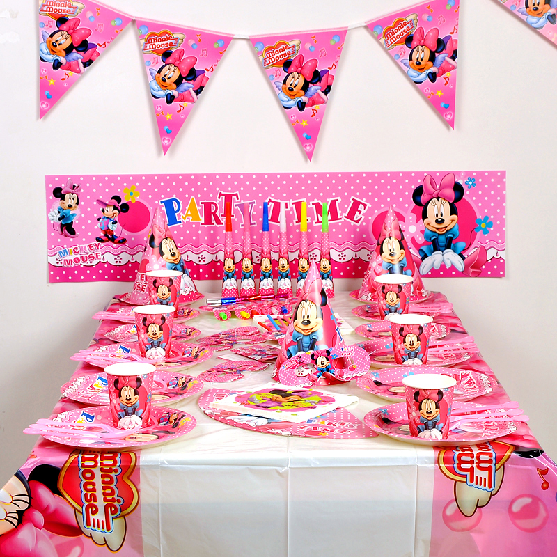 Disney Minnie Mouse Centre pieceTable Decoration Kit Disney Happy Birthday