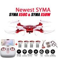 Más reciente SYMA X5UW y X5UC Drone 720 P WIFI FPV Con 2MP HD cámara Helicóptero Altura Tienen Una Llave Land 2.4G 4CH 6 Axis RC Quadcopter