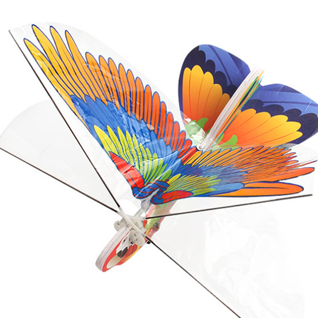 DIY Electric Infra-Red RC Kite Flying Bird Toys Outdoor Sports Toys For Children Running- 340B Parrot Type/Eagle Type