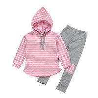 MUQGEW 2 stücke Trainingsanzug Kinder Kleidung Set Flugzeug Streifendruck Hoodie Tops + Pants Outfits Jungen Kleidung Roupa Menina QZ06