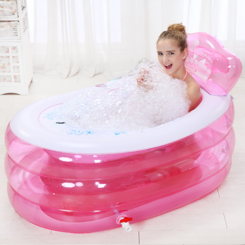 Circular swimming pool with a large baby bath tub children\'s ...