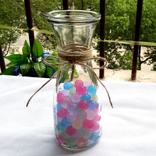 New 1000pc 3-3.5mm Mix Pearl Crystal Soil Mud Ball Hydrogel Gel Jelly Orbiz Growing in Water Beads Flower Wedding Decorative Toy