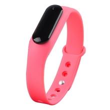 Спортивные часы Smart Bluetooth 4.0 отслеживания активности сна ЧСС подключен Смартфон Android и IOS Apple IPhone (розовый)