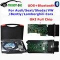 Nuevo Chip de OKI VAS5054A Bluetooth VAS 5054A ODIS V3.0.3 Con Keygen + Chip OKI VAS5054 VAS UDS 5054 Completo Para VW de Diagnóstico Del Coche herramienta