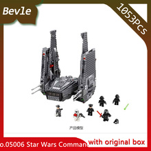 Bevle Store LEPIN 05006 1053Pcs with original box Star Wars Series Special Forces Command Building Block For Children Toys 75104