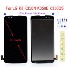 STARDE Replacement LCD For LG K8 K350N K350E K350DS LCD Display Touch Screen Digitizer Assembly Frame 5