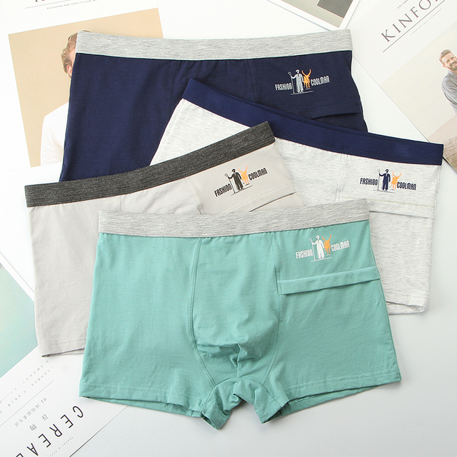 luxury male panties wide waistband boxer nature cotton men