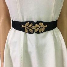 С большой бабочкой конец талии дамы пояс Эластичная широкая талия герметизации женский ремень платье суб-декоративный пояс соответствия платье ремни