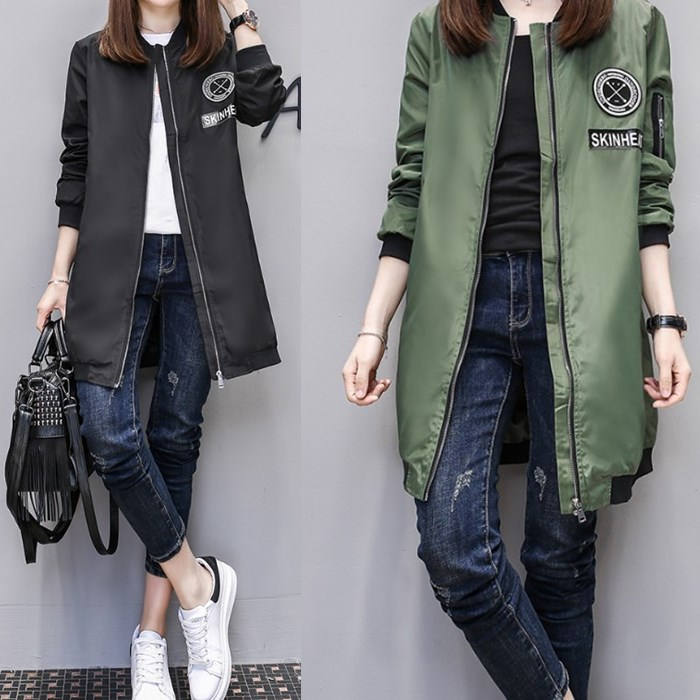 Trench   Coat for Women Casual Long Sleeve Zipper Spring Coat Casaco Feminino Army Green Overcoat Women's Coats Plus Size 3XL 4XL