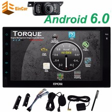 "Android 6.0 Car Stereo GPS map Radio 2 Din 7"" Touch Screen Headunit In Dash Navigation 1080P Video Microphone+Reversing Camera"
