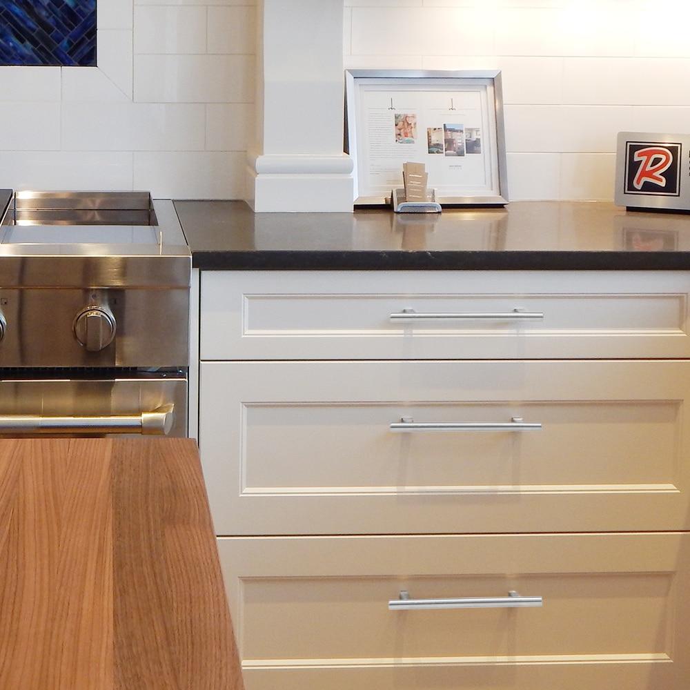 Image 2 - 20Pcs Modern Furniture Handles Kitchen Cabinet T Pulls Handles knobs Stainless Steel Handles For FurnitureCabinet Pulls   -