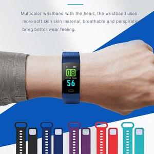 Image 5 - Smart Band Y5 Herz Rate Blutdruck Monitor Hohe Fitenss Tracker Bunte Bildschirm Smart Armband Armband für männer android