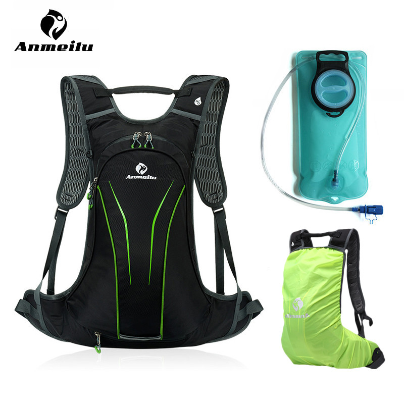 ANMEILU Water Bag With Rain Cover 20L Cycling Backpack 2017 MTB Climbing Camping Hiking Bag Hydration Rucksacks Camelback 2017 anmeilu 20l rucksack 2l water bag waterproof hiking camping climbing cycling travel backpack outdoor bag hydration pack