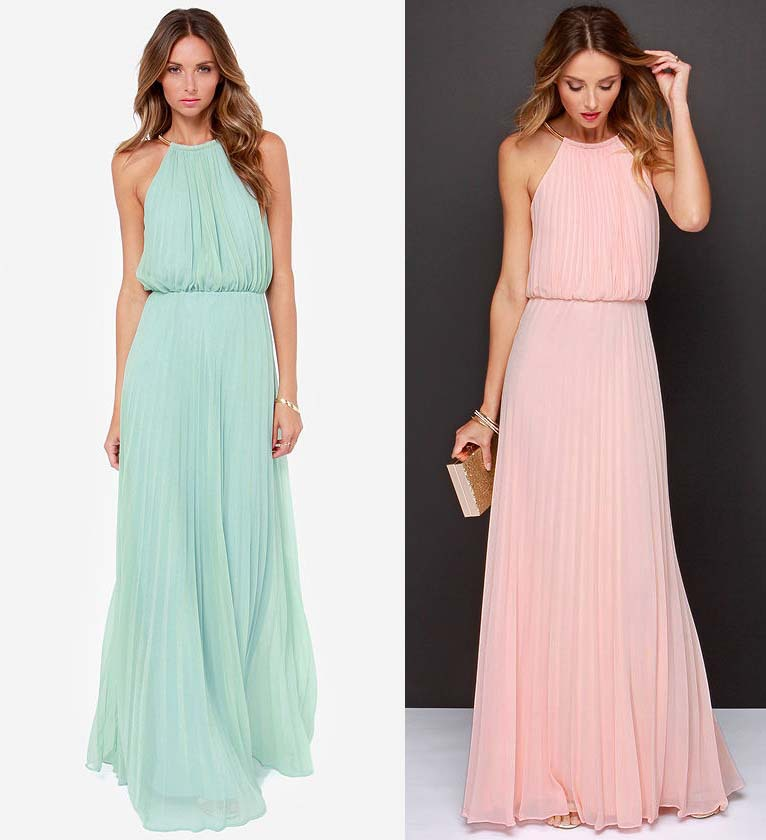2015 New Fashion Long Casual Dress Women Maxi Dress Stitching Chiffon Sleeveless Sexy Dresses In