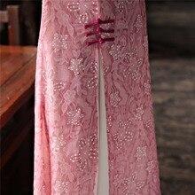 Shanghai Story Spring Summer 3/4 Sleeve Aodai Vietnam Cheongsam Dress For Women Traditional Clothing Autumn ao dai Qipao Dress
