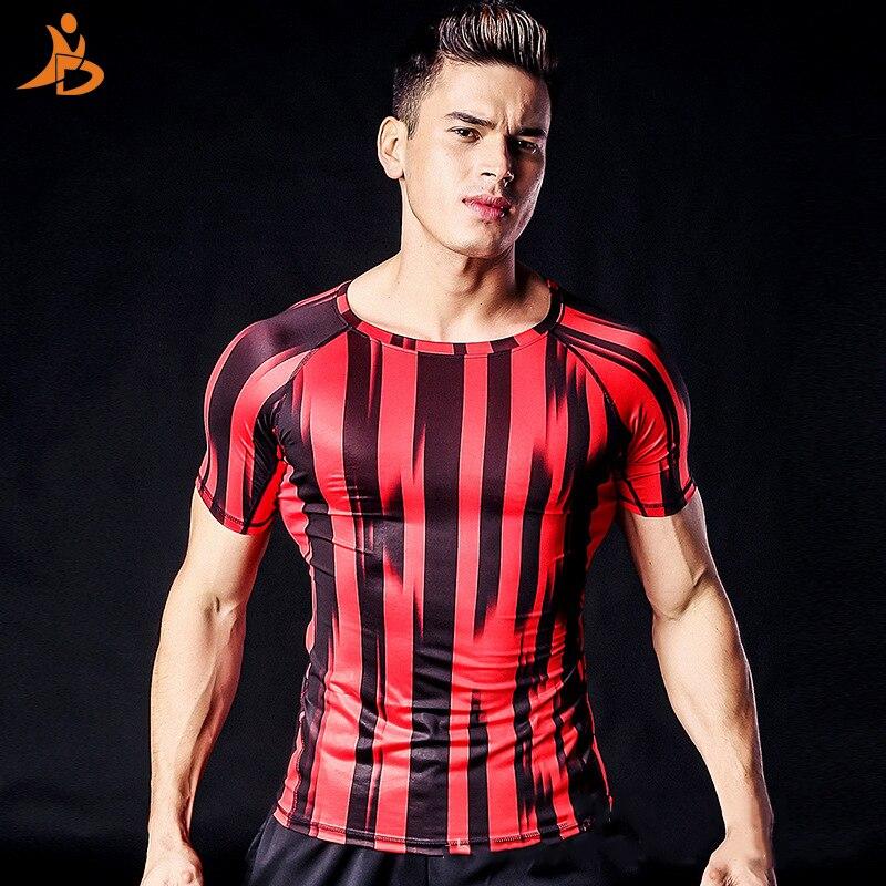 2017 Fitness Kleidung Enge Sport T-shirt Im Freien Druck Laufende T-shirts Männer Quick Dry Rashgard Männer Kompression Tennis Jersey