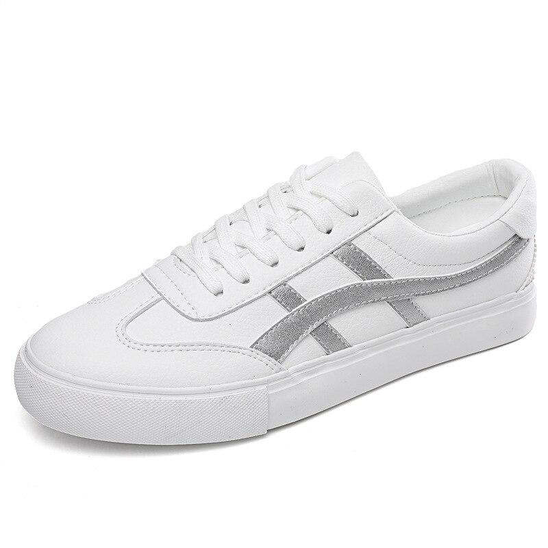 Dos Sapatos Novos Os E Azul Com 2019 Homens De Baixa Superior Pequenos Parte Para Couro Brancos cinza Primavera 51qnxtE