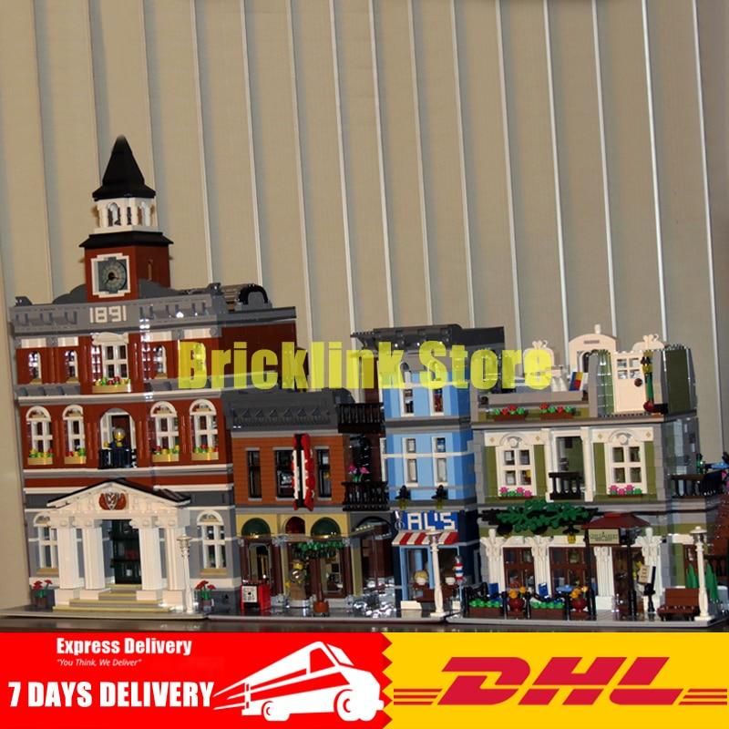 Lepin 15003+15010+15011The Town Hall+ Parisian Restaurant+Detective's Office Building Blocks Bricks 10224 10243 10197 jayhawks jayhawks hollywood town hall