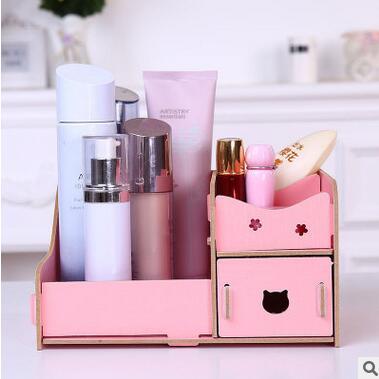 Wooden Storage Box storage box organizer Jewelry Makeup Kit Makeup Set Desktop Organizer