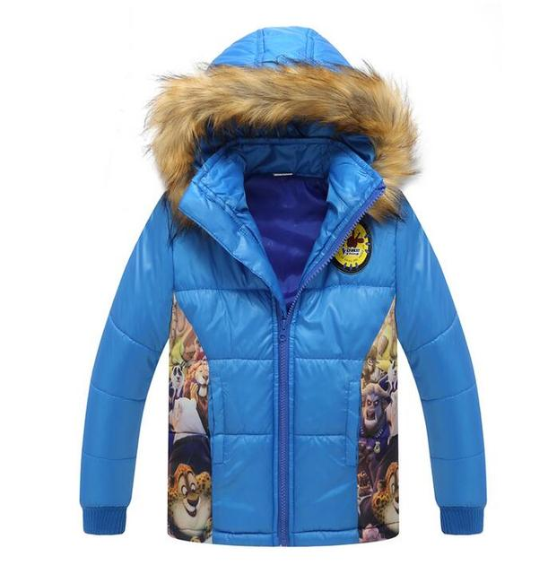 New winter coat wild animal print coat Boys Hoodie