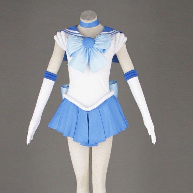 セーラームーンのアニメコスプレセーラー水銀/水野亜美ユニセックス原宿ハロウィーンパーティーコスプレ衣装カスタマイズすることができます