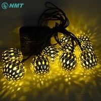 10 led 3.5 متر غلوب الكرة مصابيح الطاقة الشمسية led سلسلة أضواء الجنية الشمسية جارلاند حديقة زخرفة عيد السنة الجديدة ل في الهواء