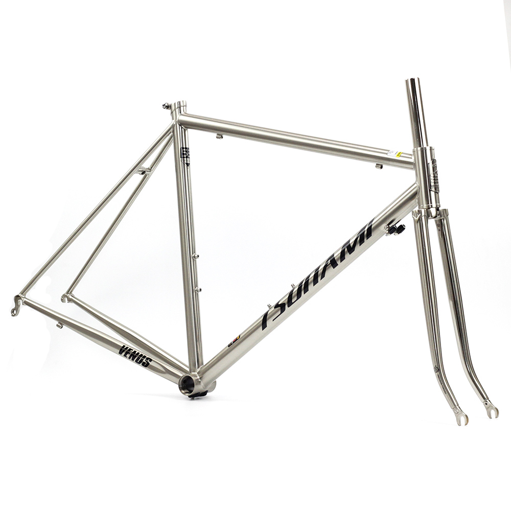 TSUNAMI Venus Reynolds 520 Frame Fork with 4130 Chrome Steel Road Bike 700C Classic Frameset Bicycle