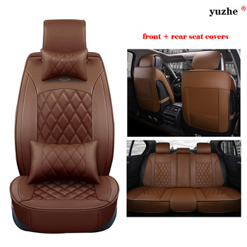 Yuzhe leather car seat cover For Land Rover Discovery Sport freelander Range Sport Evoque Defender car accessories styling
