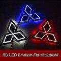 1 шт. 5D Светодиодные Задние Эмблемы Логотипа Свет Значка Автомобиля Лампы для Mitsubishi Galant Lancer Lioncel Зингер ASX Outlander 7.6 см Х 8.7 см