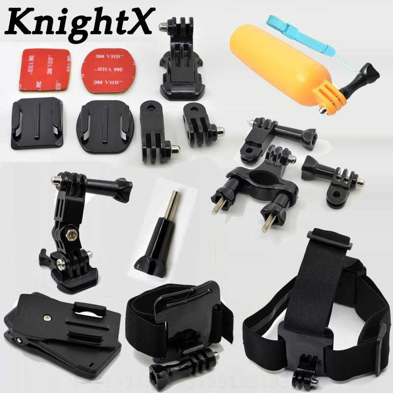 KnightX Head Strap for Gopro Accessories for go pro hero 6 5 4 3 kit mount for SJCAM for SJ4000 for xiaomi for yi 4k as50 sony