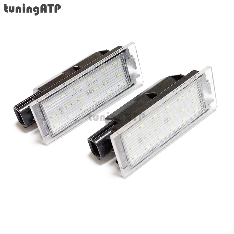 18 smd led license plate lights module for renault megane ii megane iii clio iii clio iv laguna. Black Bedroom Furniture Sets. Home Design Ideas