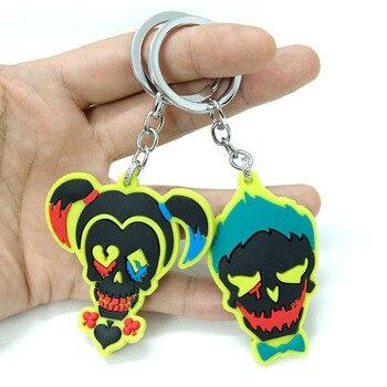 Брелки резиновые Отряд Самоубийц Харли Квинн и Джокер