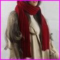 2016 шарф женщины зима kinitted шарфы длинные теплый воротник шарф шеи