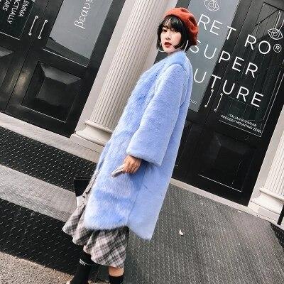 New Style High-end Fashion Women Faux Fur Coat 17C7
