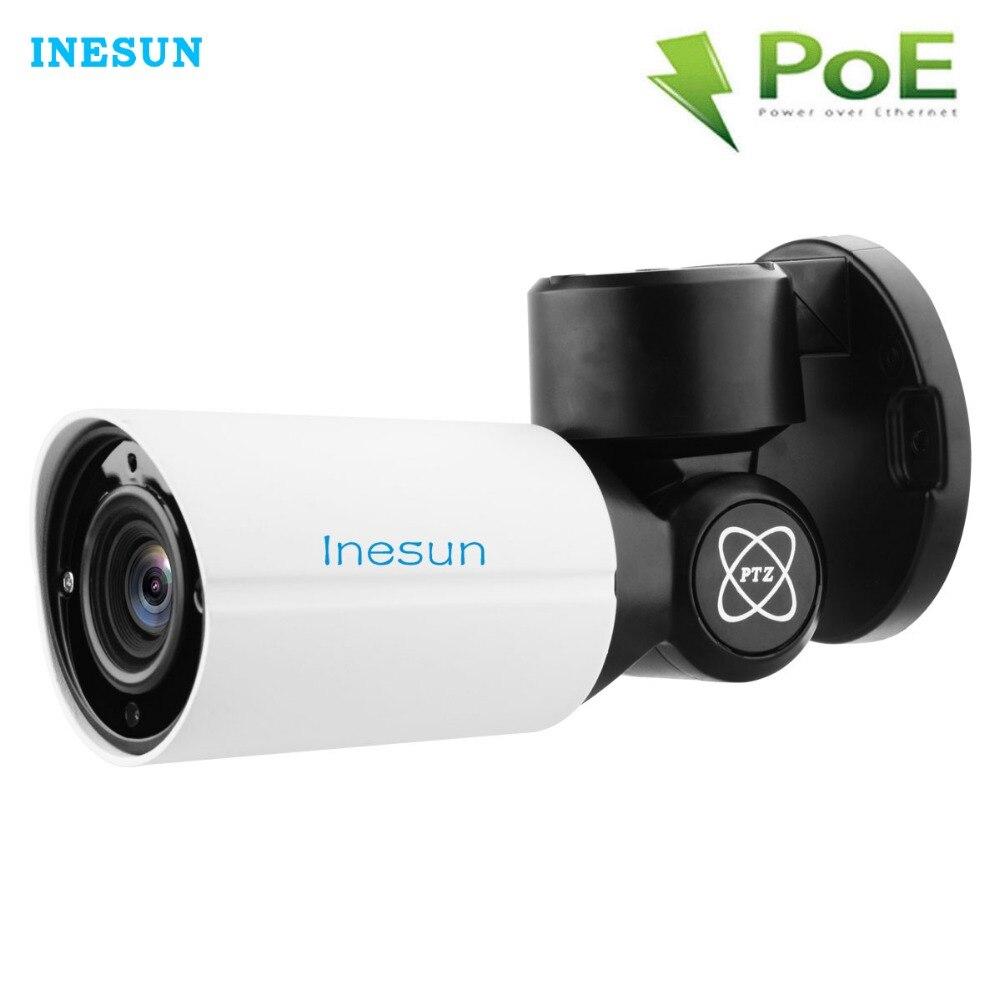 Inesun Extérieure PoE PTZ caméra de sécurité ip 5MP Super HD 2592x1944 4X zoom optique objectif autofocus 120ft IR Nuit Vison Étanche