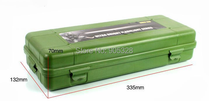 One pc Size 6# Tool kit work box hold-all tool compartment aluminum torch case LED flashlight gift packaging box