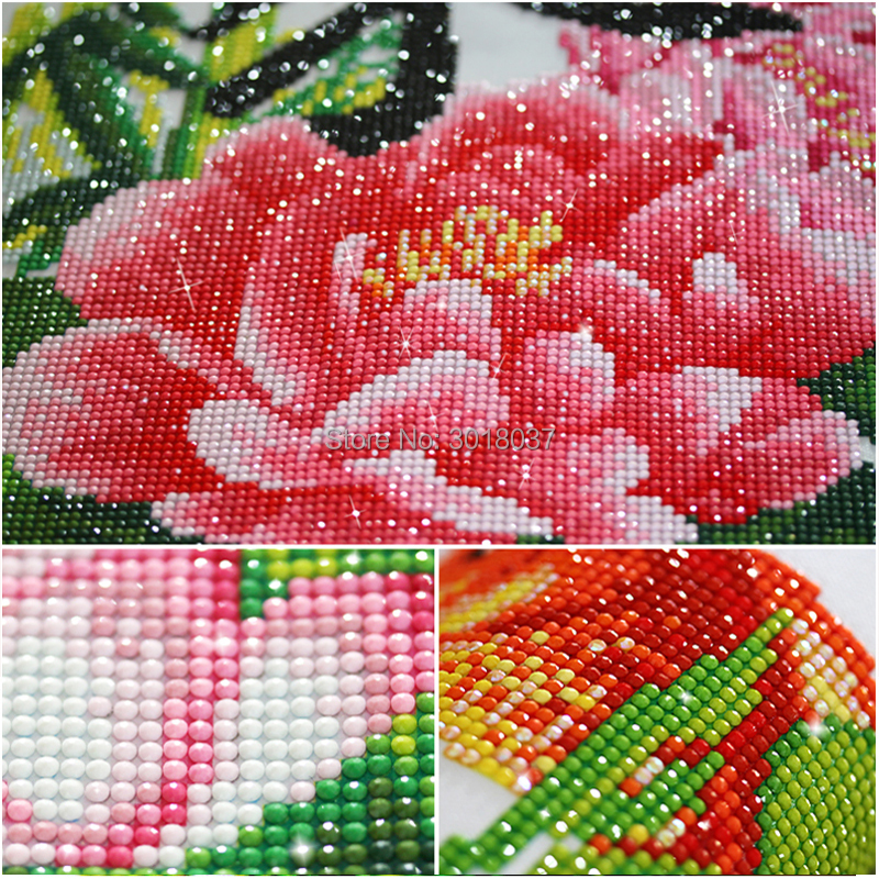 5D Diy Diamond Painting Cross Stitch Blooming White Camellia Needlework 3D Diamond Embroidery Full Round Mosaic Decoration Resin in Diamond Painting Cross Stitch from Home Garden