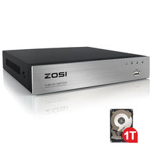 ZOSI 8 Channel TVI 4-IN-1 DVR with 1TB 720P Security CCTV DVR 8CH Mini Hybrid HDMI DVR Support Analog/AHD/TVI/CVI Camera
