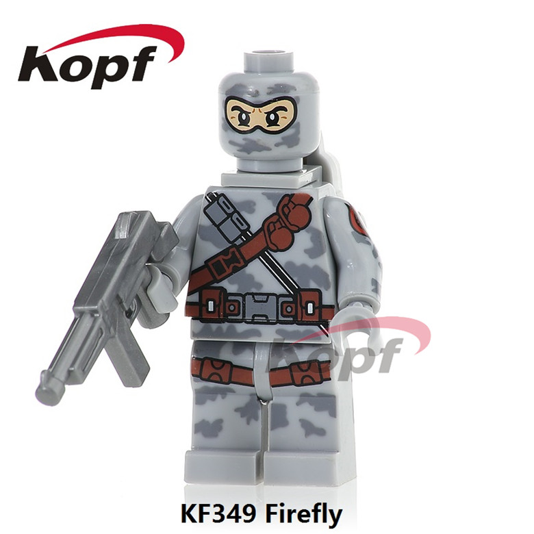 50Pcs KF349 Super Heroes Firefly Power Girl Serpentor Snow Job Gi Joe Series Bricks Model Building Blocks Children Gift Toys