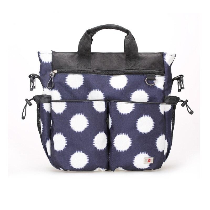 ФОТО ECO brand multifunctional mom diaper bag organizer dot fashion baby stroller nappy bag waterproof changing lady handbag