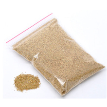 50g Free Shipping Hot New Creation DIY Micro Beads Gold Plated Glass Charms Jewelry Decoration Embellishment Component  0.7mm