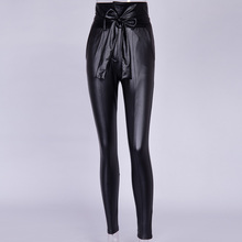 Belt High Waist Leather Pencil Pant RK