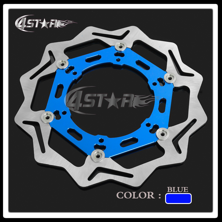 270MM Blue Front Floating Brake Disc Rotor Adaptor For YZ YZF WR WRF  250 400 450 Motorcycle Supermoto Motard Motocross mfs motor motorcycle part front rear brake discs rotor for yamaha yzf r6 2003 2004 2005 yzfr6 03 04 05 gold